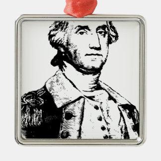 america-1297829 Silver-Colored square ornament