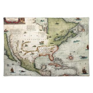 America 1610 placemat