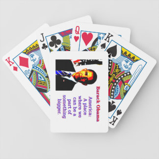 America A Place Where We Can Be - Barack Obama Bicycle Playing Cards