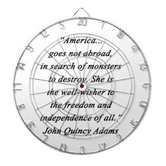 America Abroad - John Q Adams Dartboard