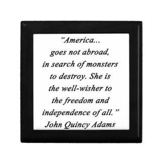 America Abroad - John Q Adams Gift Box