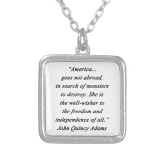 America Abroad - John Q Adams Silver Plated Necklace