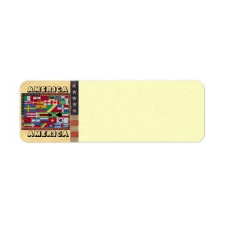 AMERICA AMERICA Address Label