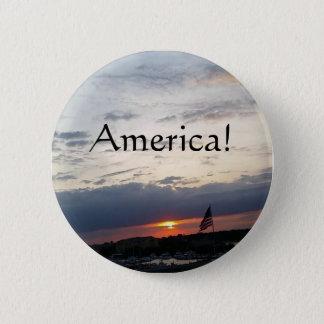 America!- American Flag Photo, Charleston SC 2 Inch Round Button