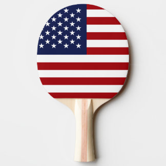 America and Ukraine Flag Ping Pong Paddle