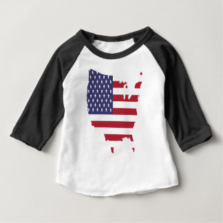 america art borders cartography country flag baby T-Shirt