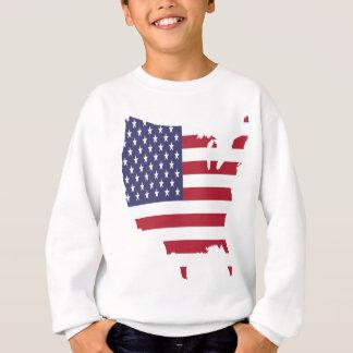 america art borders cartography country flag sweatshirt
