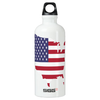 america art borders cartography country flag water bottle