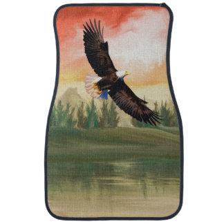 America Bald Eagle In Flight Car Mat