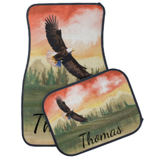 America Bald Eagle In Flight Personalized Car Mat