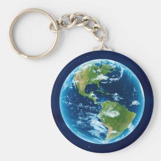 America Basic Round Button Keychain