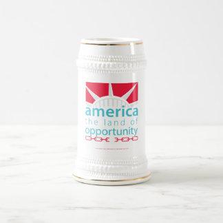 America Beer Stein