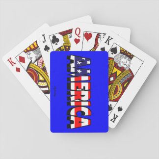 America! BLUE PLAYING CARDS