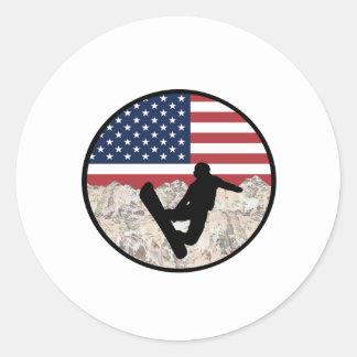 America Boarders Classic Round Sticker