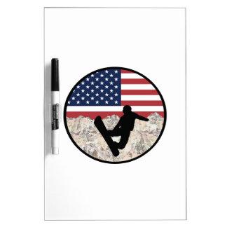 America Boarders Dry Erase Board