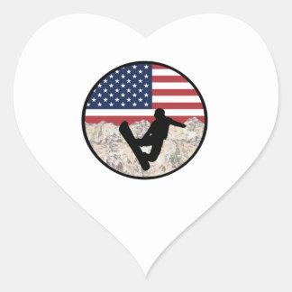 America Boarders Heart Sticker