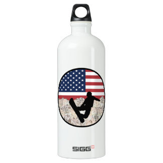 America Boarders Water Bottle