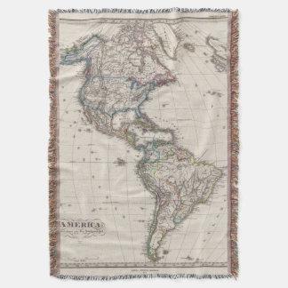 America by Stieler Throw Blanket