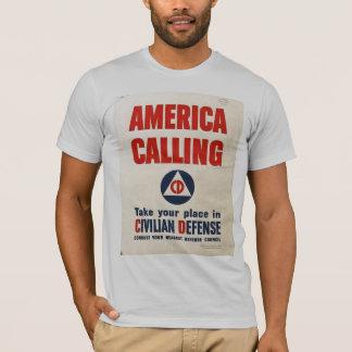 America Calling World War 2 T-Shirt