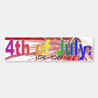 America Celebrates Flag Fireworks 4th of July Bumper Sticker