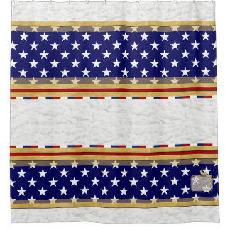 America Colors Stars Plain Clouds Shower Curtain