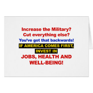America Comes First? Then Invest Jobs, Healthcare Card