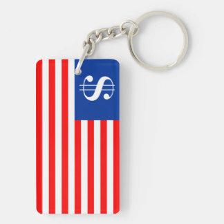 america country dollar symbol flag united states u keychain