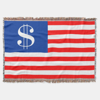 america country dollar symbol flag united states u throw blanket