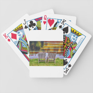 America Day Dreaming For Two Bicycle Playing Cards
