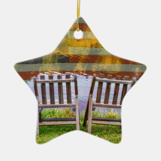 America Day Dreaming For Two Ceramic Star Ornament