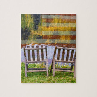 America Day Dreaming For Two Jigsaw Puzzle