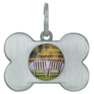 America Day Dreaming For Two Pet Name Tag
