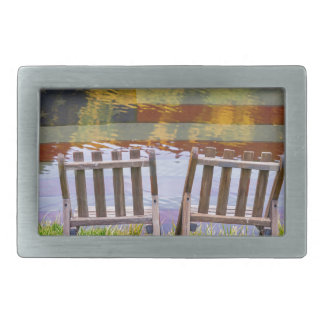 America Day Dreaming For Two Rectangular Belt Buckle