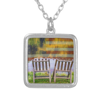 America Day Dreaming For Two Silver Plated Necklace