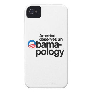 AMERICA DESERVES AN OBAMAPOLOGY iPhone 4 Case-Mate CASES