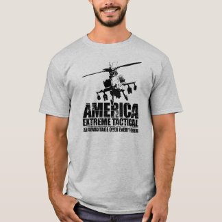 America Extreme Tactical - Apache Helicopter T-Shirt