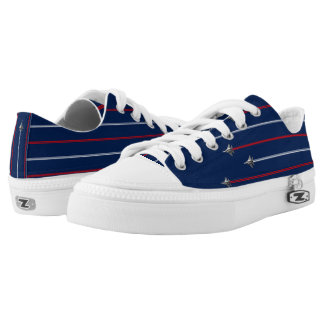 America Fighter Jet Red white and blue Low-Top Sneakers