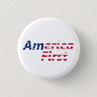 America First 1 Inch Round Button