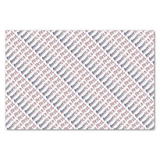 America First American Flag Typography Patriotic Tissue Paper