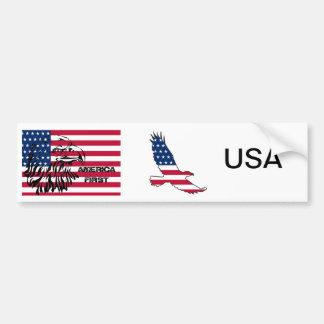 America First bumper sticker, USA, patriots Bumper Sticker