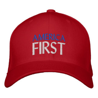 AMERICA FIRST EMBROIDERED HAT