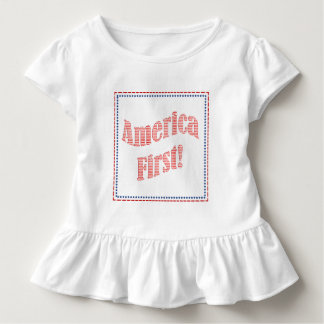 """""""America First"""" Inauguration Quote Typography Toddler T-shirt"""