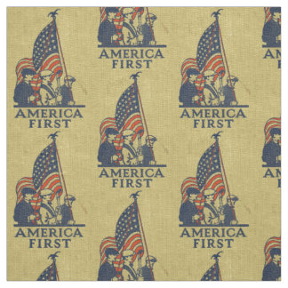 America First Patriots American Flag Vintage USA Fabric