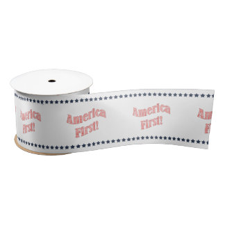 """America First"" President Donald Trump Quote Satin Ribbon"