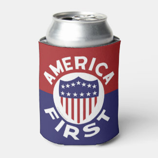 AMERICA FIRST! Retro Anti War Non Intervention Can Cooler