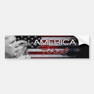 AMERICA FIRST SLOGAN EAGLE ONE BUMPER STICKER