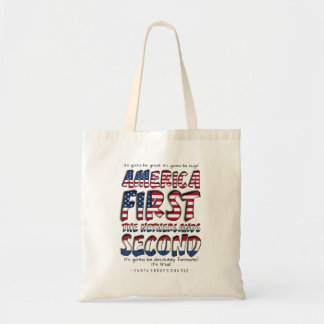 America First The Netherlands Second Typography Tote Bag