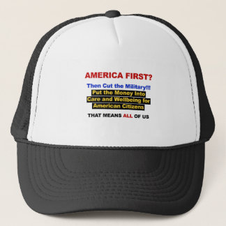 America First? Then Cut the Military Trucker Hat
