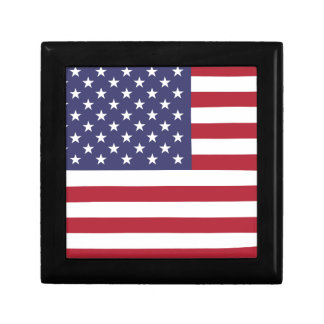 America flag all over design jewelry boxes