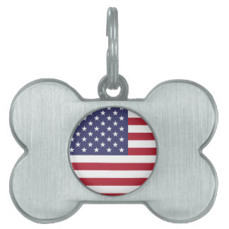 America flag all over design pet name tags
